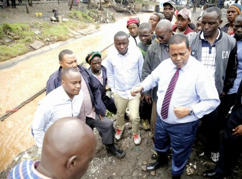 WRA CEO and Starehe MP at a Nairobi River Riparian