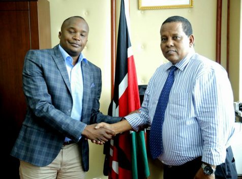 WRA CEO Receives Starehe MP. Charles Njagua at his office