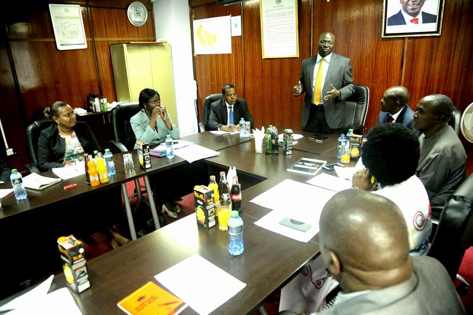 Water and Sanitation CS addressing the Governing Board of Directors