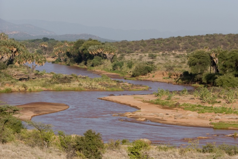 Ewaso Ng'iro River passing through the Shaba Park (Picture by Marc Samsom)