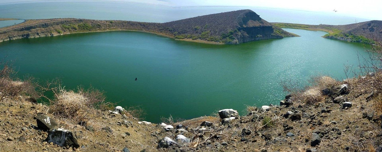 Lake Turkana the largest saline lake in East Africa and the largest desert lake in the world is in the RVBA