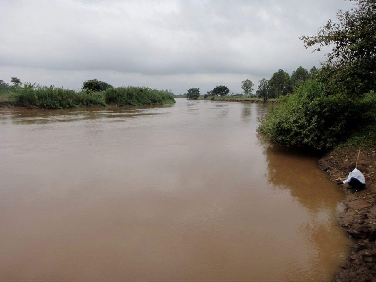 River Nzoia, one of LVSCA major rivers, passing through Budalangi Area (Picture by Mike Thibert)